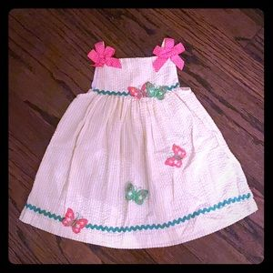 Rare Editions Girl's Summer Dress w/ Diaper Cover.